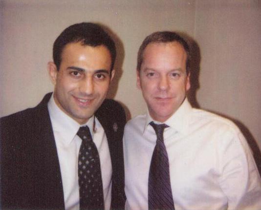 Roman Mitichyan with Kiefer Sutherland