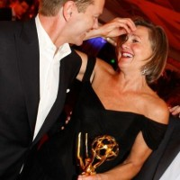 Kiefer and Cherry Jones Emmys 09