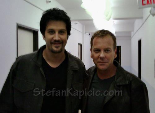 Stefan Kapicic and Kiefer Sutherland