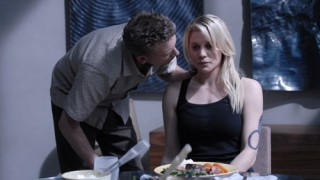 Callum Keith Rennie and Katee Sackhoff in Battlestar Galactica