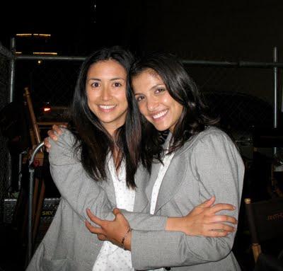Stunt double Sera Trimble and 24 actress Nazneen Contractor (Kayla Hassan)