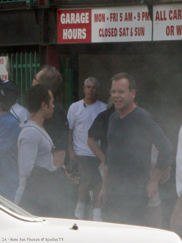 Kiefer Sutherland Sterling Rush on location 24 Season 8 set picture