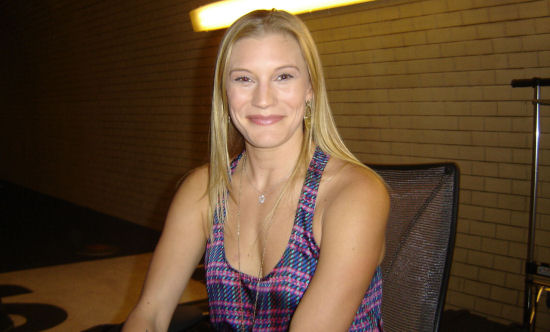 Katee Sackhoff on 24 Season 8 set
