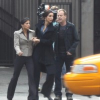 Kiefer Sutherland in Jack Bauer mode while filming 24 Day 8-1
