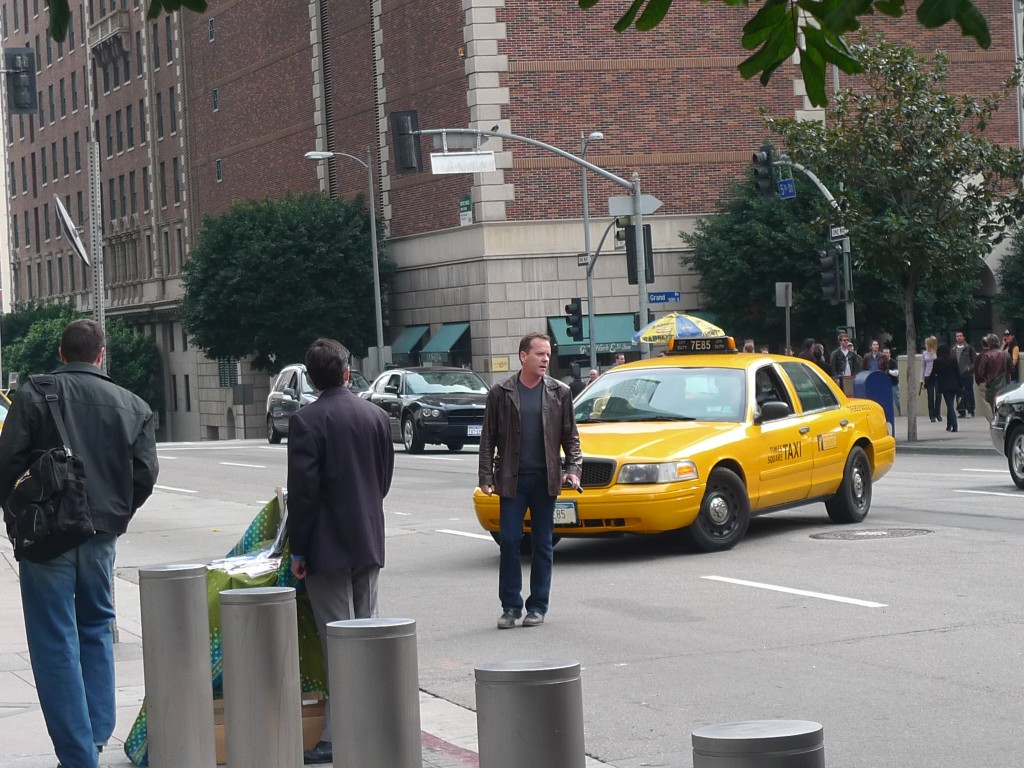 Kiefer Sutherland filming 24 Season 8 Episode 20