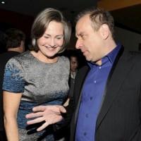 Evan Katz and Cherry Jones at TCA 2010