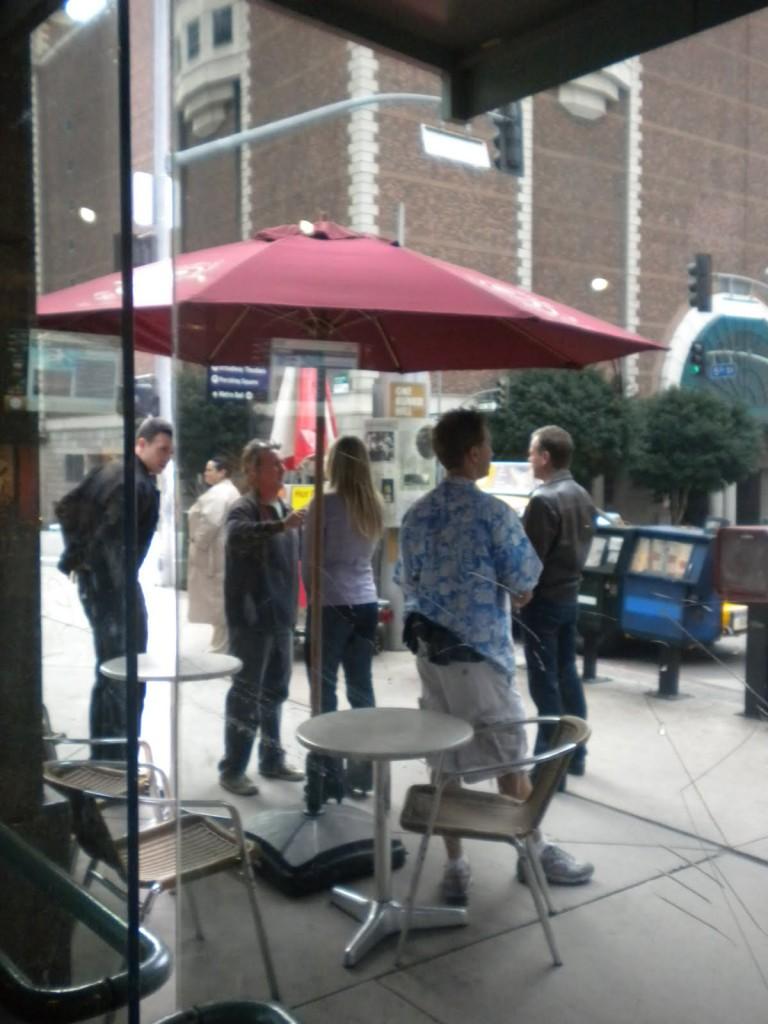 Kiefer Sutherland Katee Sackhoff filming 24 Season 8 Episode 20