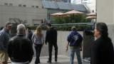 Kiefer Sutherland, Katee Sackhoff, Freddie Prinze Jr filming 24 Season 8 Episode 20