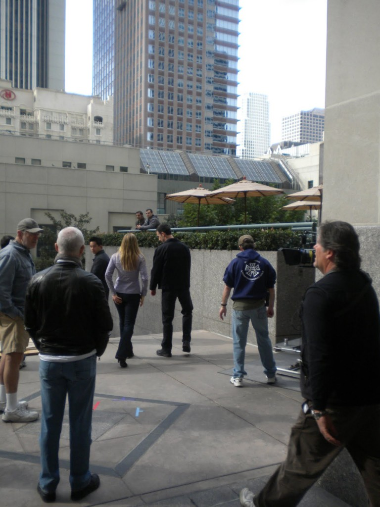 Kiefer Sutherland, Katee Sackhoff, Freddie Prinze Jr filming 24 Season 8 Episode 20