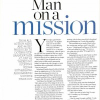 Kiefer Sutherland - Man on a Mission magazine scan