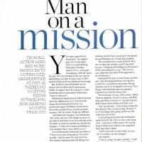 Kiefer Sutherland - Man on a Mission magazine scan