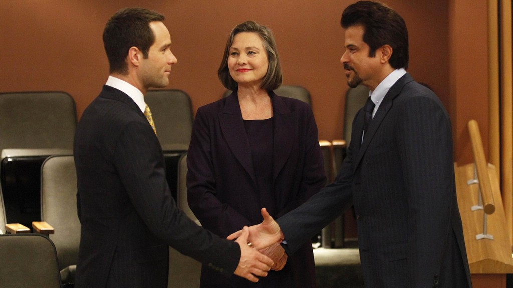 Rob Weiss, Allison Taylor, and Omar Hassan at the United Nations in 24 Season 8 premiere