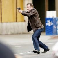Jack Bauer shooting 24 Season 8 set