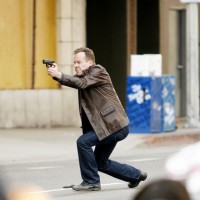 Jack Bauer shooting 24 Season 8 set