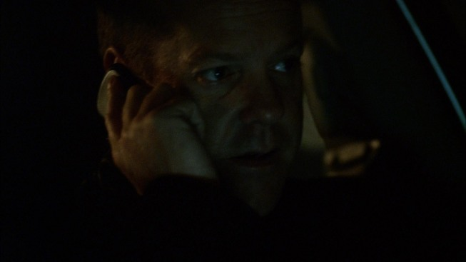 Jack Bauer talks to Chloe O'Brian on cellphone 24 Season 8 episode 5