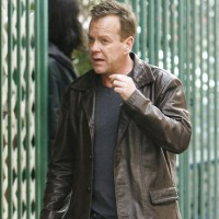 Kiefer Sutherland on 24 set Season 8