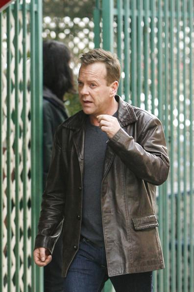 Kiefer Sutherland on 24 set Season 8