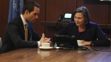 Rob Weiss and President Allison Taylor 24 Season 8 Episode 8