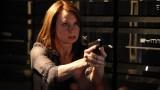 Chloe O'Brian pointing gun in 24 Season 8 Episode 13