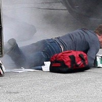 Kiefer Sutherland crawling 24 Series Finale set pictures