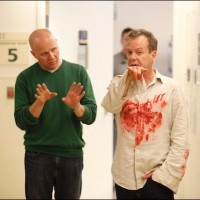 Milan Cheylov and Kiefer Sutherland behind the scenes hospital