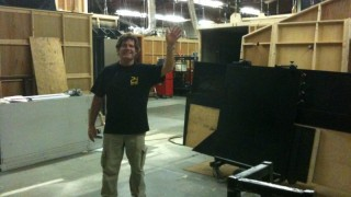 Guy Skinner waves goodbye - final day of 24 production