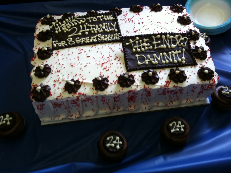 """24 """"The End"""" Damnit Cake"""