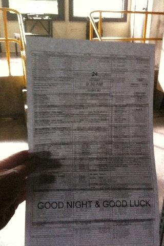 24 The Final Call Sheet