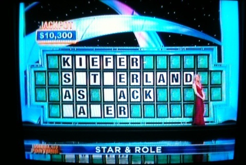 Kiefer Sutherland as Jack Bauer - Wheel of Fortune Puzzle