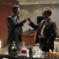 Jason Pillar and Charles Logan toast 24 series finale