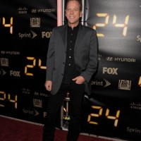 Kiefer Sutherland at 24 Series Finale Party