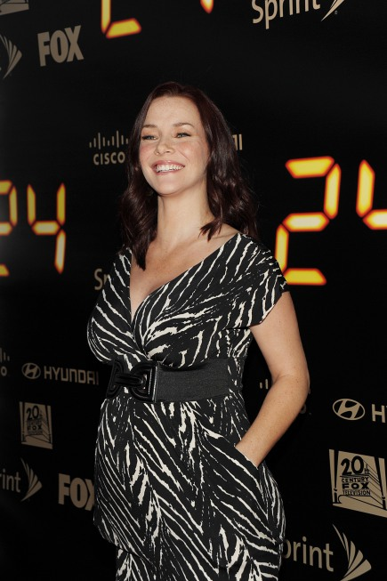Annie Wersching smiling 24 series finale party