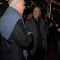 Jon Voight and Kiefer Sutherland at 24 Series Finale Party