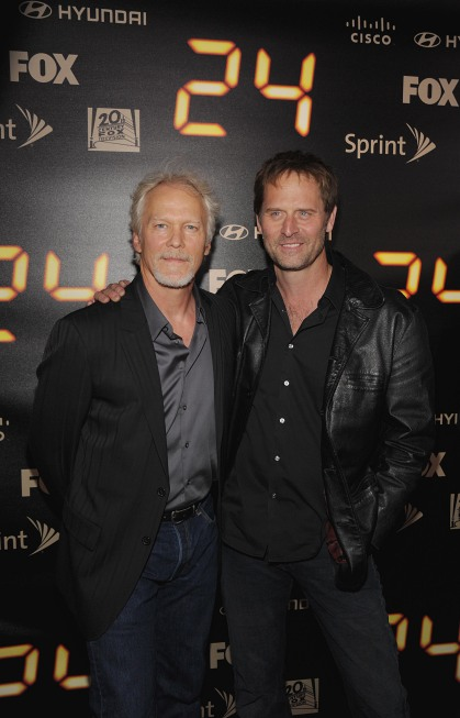 James Morrison and Jeffrey Nordling at 24 Series Finale Party