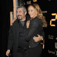 Jon Cassar and Kim Raver at 24 Series Finale Party
