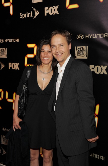 Chad Lowe and wife Kim Painter at 24 Series Finale Party