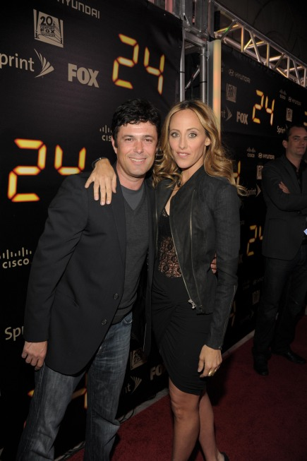 Carlos Bernard and Kim Raver at 24 Series Finale Party