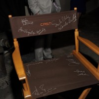 Chair autographed by 24 cast at 24 Series Finale Party