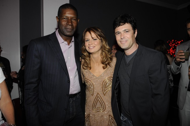 Dennis Haysbert Mary Lynn Rajskub and Carlos Bernard at 24 Series Finale Party