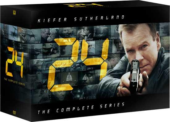 24 Complete Series DVD box set art