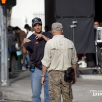 Sterling Rush on set of 24 Season 8