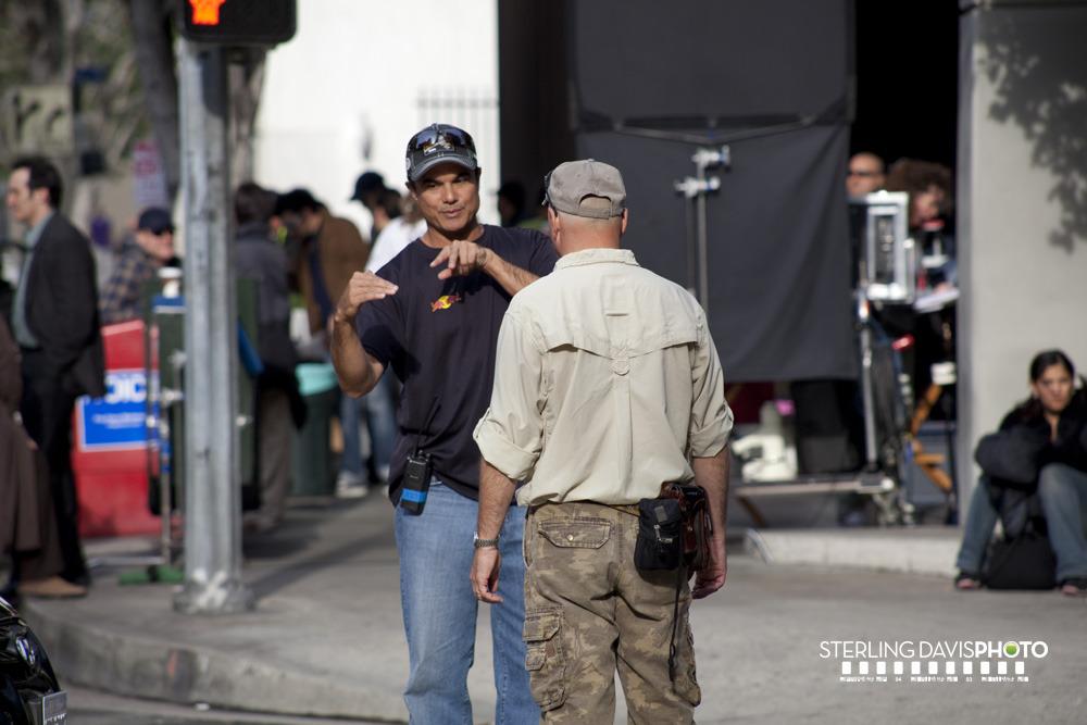 Sterling Rush on set of 24 Season 8