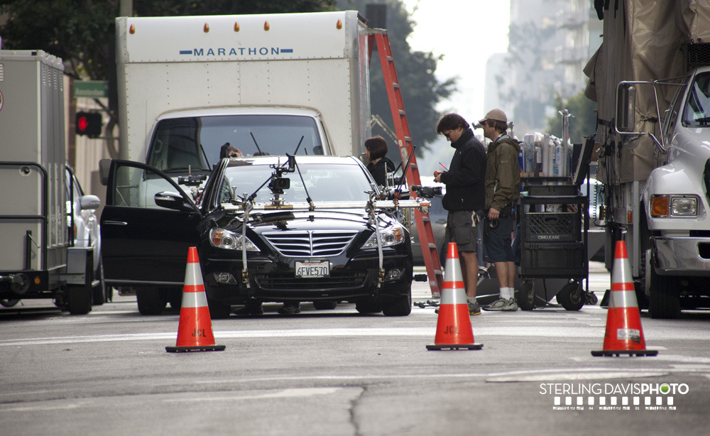 24 Season 8 filming car chase January 2010 set pictures