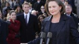 Cherry Jones as President Allison Taylor gives speech in 24 Redemption
