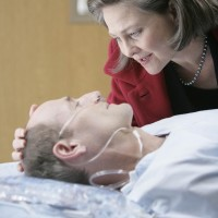 Allison Taylor visits Henry Taylor at the hospital 24 Season 7 Episode 9