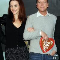 Annie Wersching and Kiefer Sutherland at Annie Wersching and Kiefer Sutherland at 24 Press Conference in Munich, Germany