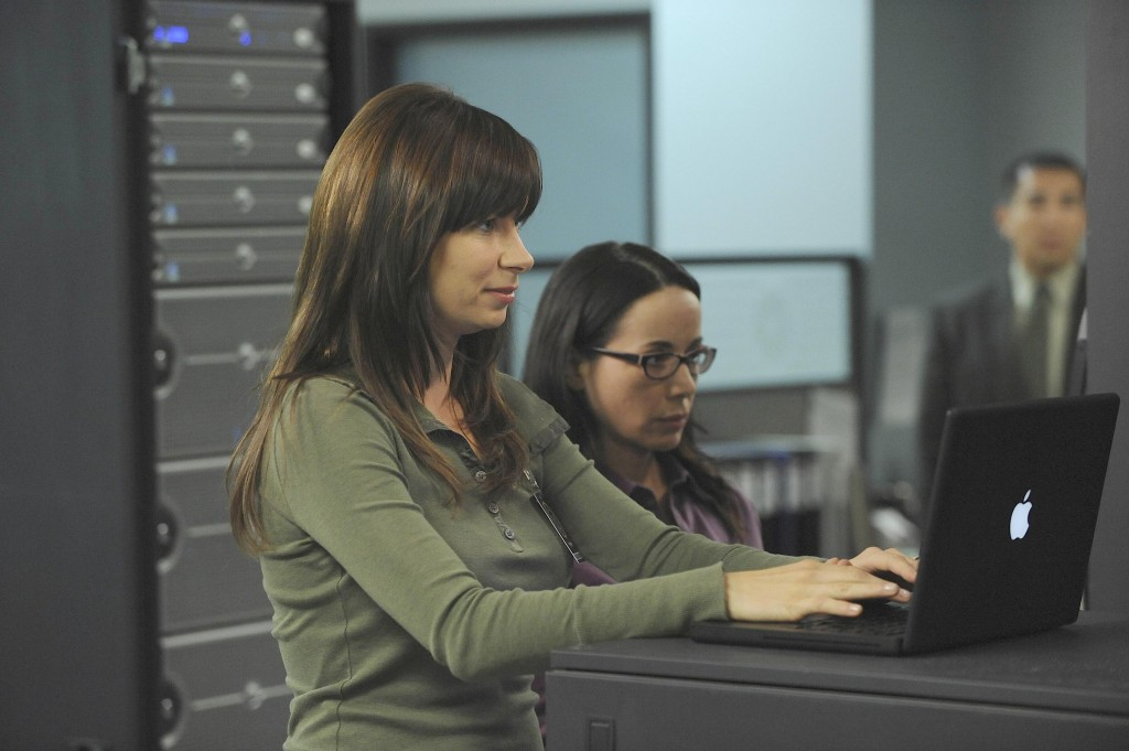 Chloe O'Brian and Janis Gold work together in FBI 24 Season 7 Episode 20