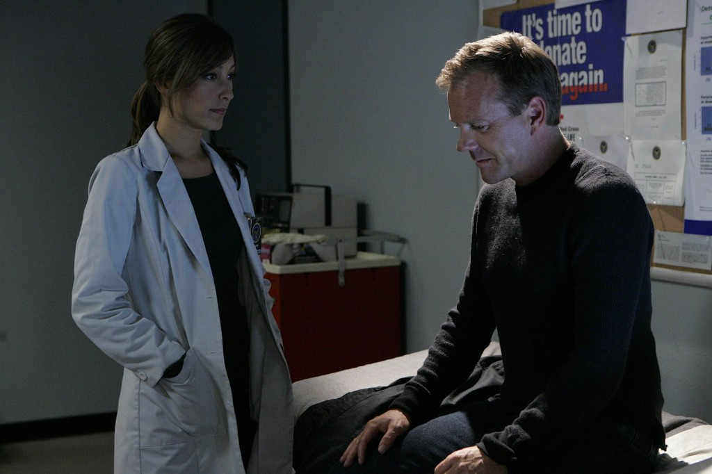 Christina Chang as Sunny Macer and Jack Bauer 24 Season 7 Episode 17