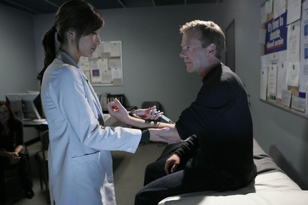 Christina Chang as Sunny Macer and Jack Bauer 24 Season 7 Episode 17