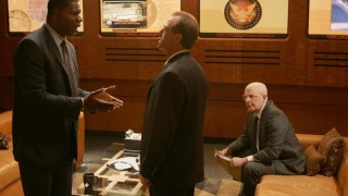 David Palmer, Charles Logan, and Mike Novick in 24 Season 4 Episode 21
